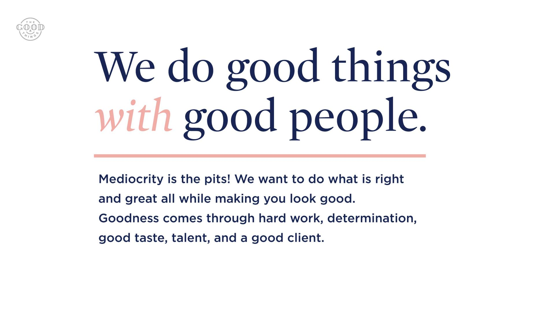 Good Things - Abilene Texas Branding design logo web design agency