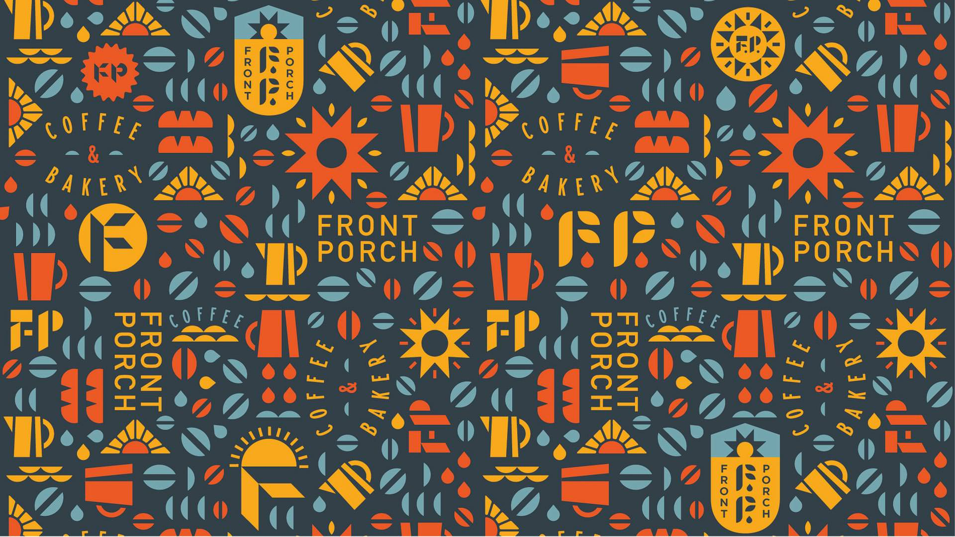 Front Porch Coffee Abilene Texas branding photography website design